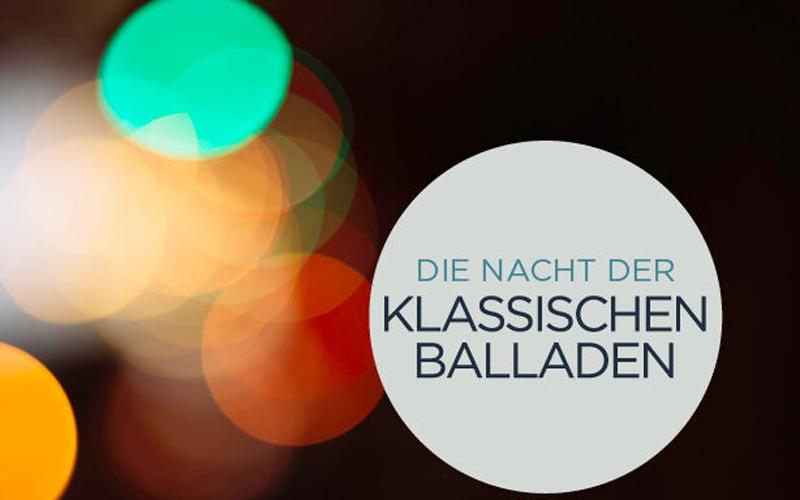 Das Münchner ensemble persona zeigt am Freitag, 28. Mai um 19.30 Uhr mit Die Nacht der klassischen Balladen eine ca. 90-minütige Hommage.